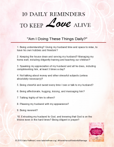 Daily Reminders List to Keep Love Alive